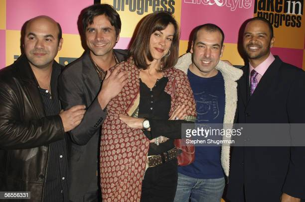 Actors Ian Gomez John Stamos Wendie Malick Rick Hoffman and Dondre Whitfield attend the Jake In Progress Season Premiere Party at The Belmont on...