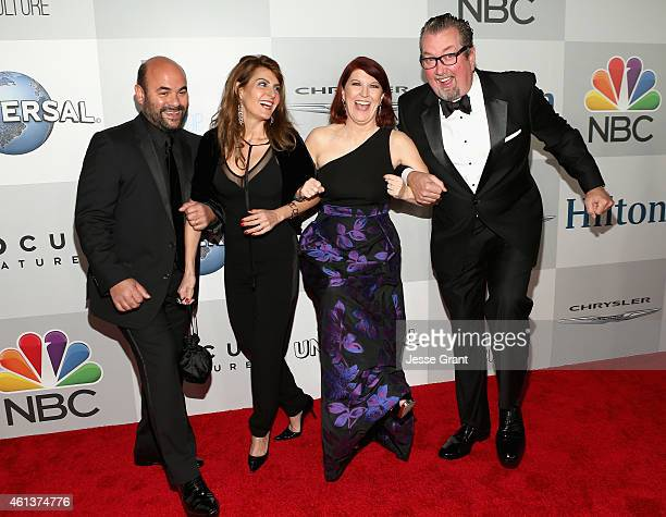 Actors Ian Gomez Nia Vardalos Kate Flannery and Chris Haston attend Universal NBC Focus Features and E Entertainment 2015 Golden Globe Awards After...