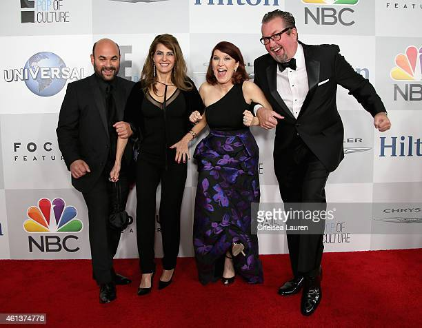 Actors Ian Gomez Nia Vardalos Kate Flannery and Chris Haston attend the NBCUniversal 2015 Golden Globe Awards Party sponsored by Chrysler at The...