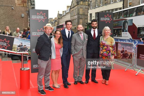 Actors Ian Hart Polly Maberly Josh O'Connor director Francis Lee Alec Secareanu and Gemma Jones attend the UK premiere of 'God's Own Country' and...