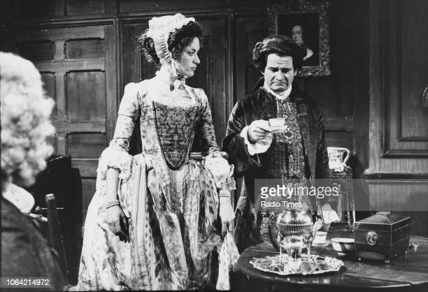 Actors Ian Holm and Diana Quick in a scene from episode 'Mr Garrick and Mrs Woffington' of the television drama 'Private Affairs' December 21st 1974