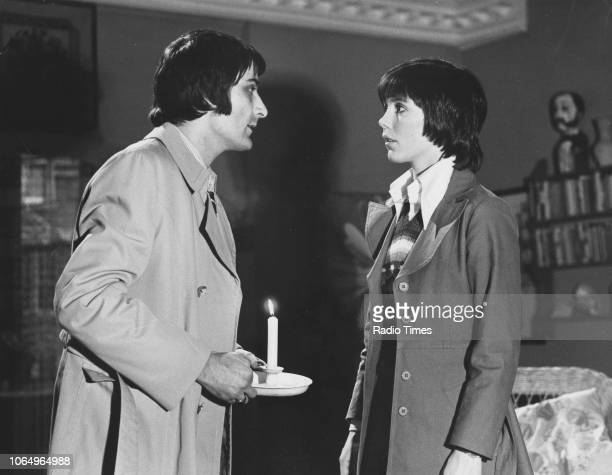 Actors Ian McCulloch and Lucy Fleming in a scene from the television series 'Survivors' February 19th 1975