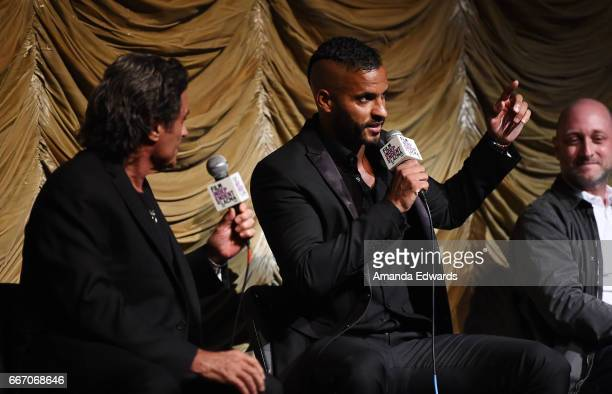 Actors Ian McShane and Ricky Whittle and producer/showrunner Michael Green attend the Film Independent at LACMA special screening and QA of 'American...