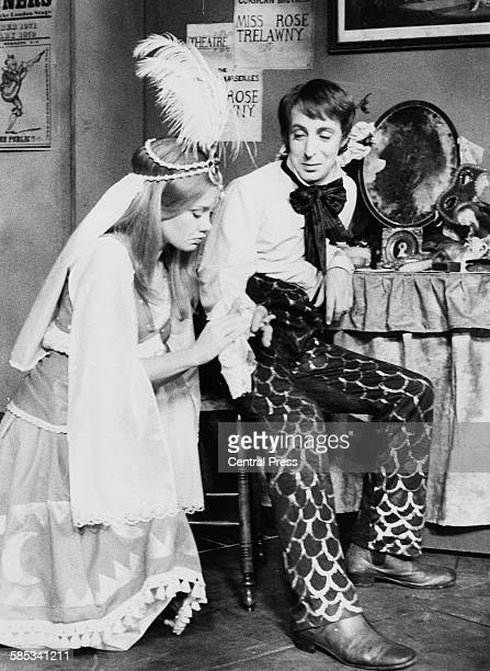 Actors Ian Richardson and Hayley Mills in a scene from the play 'Trelawny', which will premiere tonight at the Bristol Old Vic Theatre, England,...