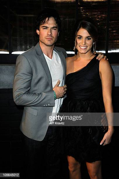 Actors Ian Somerhalder and Nikki Reed arrive at Spike TV's Scream 2010 at The Greek Theatre on October 16 2010 in Los Angeles California