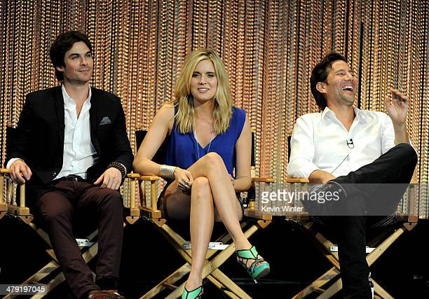 """Actors Ian Somerhalder, Maggie Grace and Henry Ian Cusick appear onstage at The Paley Center Media's PaleyFest 2014 Honoring """"Lost"""" 10th Anniversary..."""