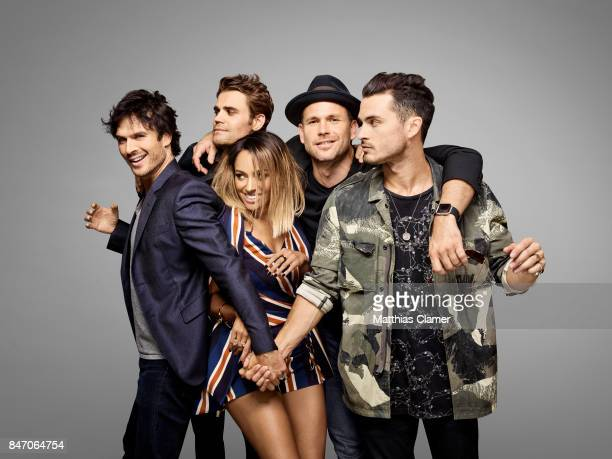 Actors Ian Somerhalder Paul Wesley Kat Graham Matt Davis and Michael Malarkey from 'The Vampire Diaries' are photographed for Entertainment Weekly...