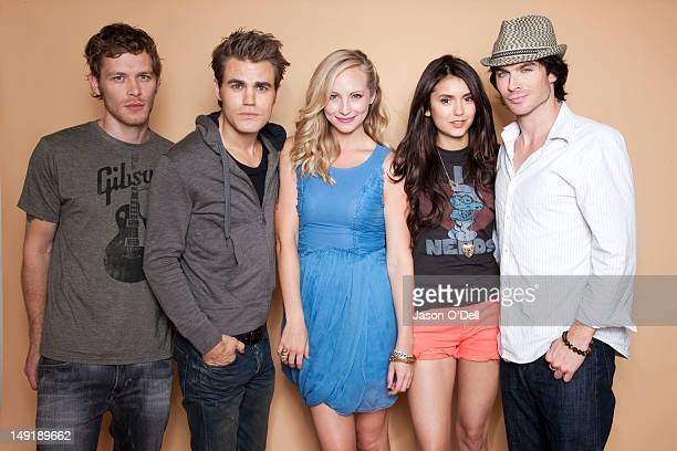 Actors Ian Somerhalder Paul Wesley Nina Dobrev Candice Accola Joseph Morgan are photographed for TV Guide Magazine on August 1 2011 in San Diego...