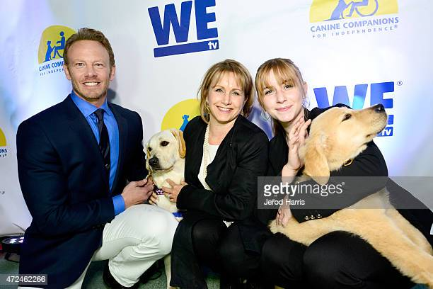 Actors Ian Ziering and Gabrielle Carteris and Kelsey Rose attend an event hosted by WE tv and Ian Ziering to raise awareness for Canine Companions...
