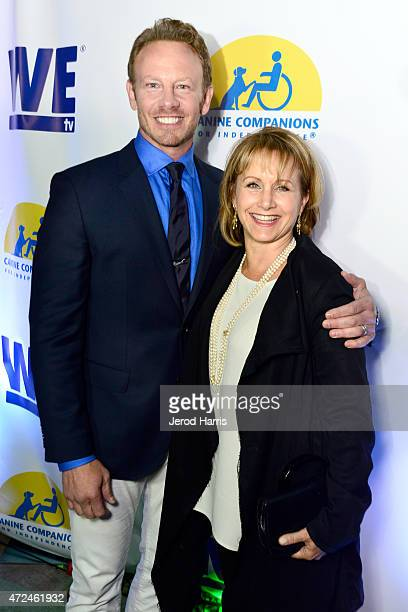 Actors Ian Ziering and Gabrielle Carteris attend an event hosted by WE tv and Ian Ziering to raise awareness for Canine Companions for Independence...