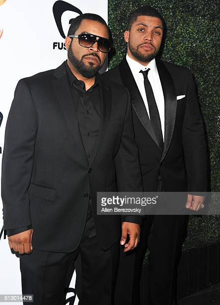 Actors Ice Cube and O'Shea Jackson Jr attend the All Def Movie Awards at Lure Nightclub on February 24 2016 in Los Angeles California