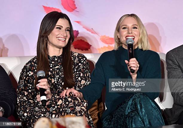 Actors Idina Menzel and Kristen Bell as seen at the FROZEN 2 Global Press Conference at W Hollywood on November 09 2019 in Hollywood California
