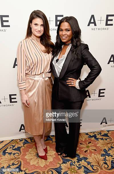 Actors Idina Menzel and Nia Long of 'Beaches' attend the Lifetime portion of the 2017 Winter Television Critics Association Press Tour at Langham...