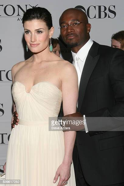 Actors Idina Menzel and Taye Diggs arrive for the 61st Annual Tony Awards at Radio City Music Hall in New York New York