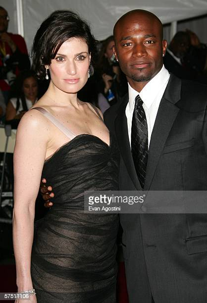 Actors Idina Menzel and Taye Diggs attend the Metropolitan Museum of Art Costume Institute Benefit Gala Anglomania at the Metropolitan Museum of Art...