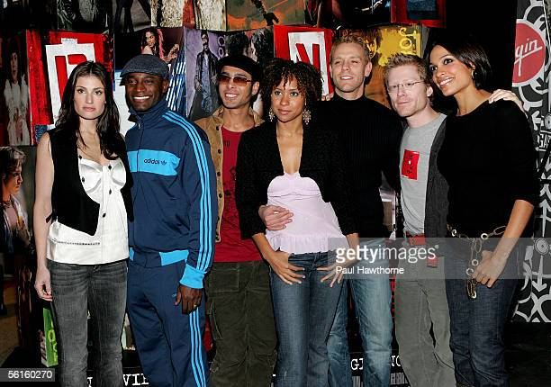 Actors Idina Menzel Taye Diggs Wilson Heredia Tracie Thoms Adam Pascal Anthony Rapp and Rosario Dawson from the movie cast of Rent make an appearance...