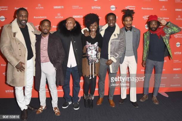 Actors Idris Elba Aml Ameen Mark Rhino Smith Shantol Jackson Riaze Foster Sheldon Shepherd and Everaldo Creary attend 'Yardie' Premiere during the...