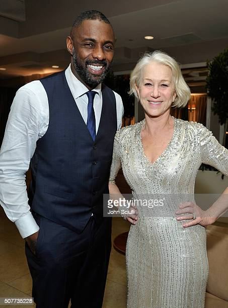 Actors Idris Elba and Helen Mirren attend the Weinstein Company Netflix's 2016 SAG after party hosted by Absolut Elyx at Sunset Tower on January 30...