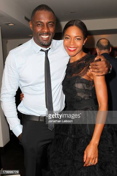 """Actors Idris Elba and Naomie Harris attend the Burberry supported premiere and celebration of """"Mandela: Long Walk to Freedom"""" hosted by The Weinstein..."""
