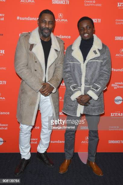 4d34c88e4d1f Actors Idris Elba and Riaze Foster attend  Yardi  Premiere during the 2018 Sundance  Film