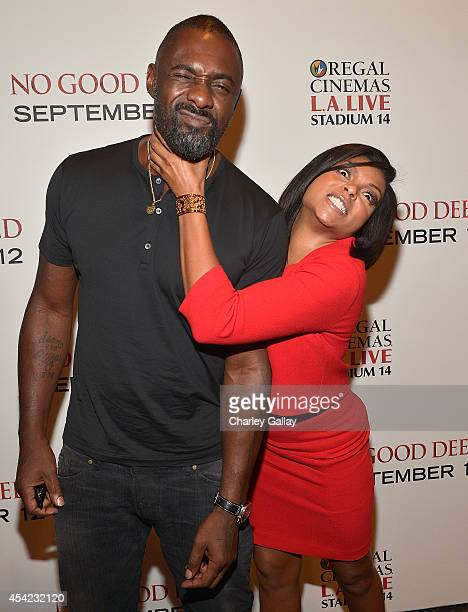 Actors Idris Elba and Taraji PHenson attend The LA Special Screening Of Screen Gems' 'No Good Deed' at Regal Cinemas LA Live on August 26 2014 in Los...