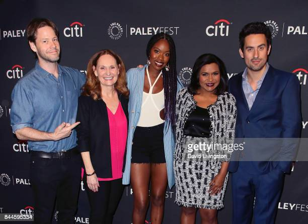 Actors Ike Barinholtz Beth Grant Xosha Roquemore Mindy Kaling and Ed Weeks attend The Paley Center for Media's 11th Annual PaleyFest fall TV previews...