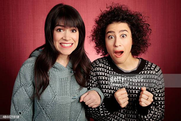 Actors Ilana Glazer, Abbi Jacobson are photographed for Los Angeles Times on December 16, 2013 in New York City. PUBLISHED IMAGE. CREDIT MUST BE:...