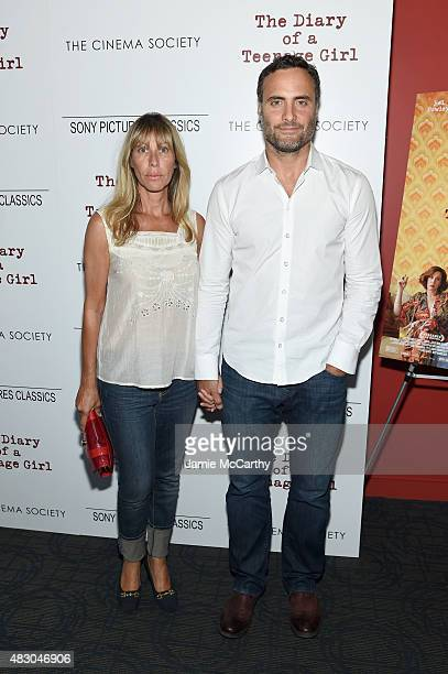 Actors Ilana Levine and Dominic Fumusa attend the screening of Sony Pictures Classics The Diary Of A Teenage Girl hosted by The Cinema Society at...