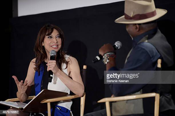 Actors Ileanna Douglas and Richard Roundtree during day three of the 2015 TCM Classic Film Festival on March 28, 2015 in Los Angeles, California....