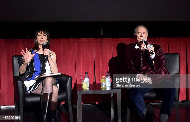 Actors Illeana Douglas and Andrew Prine speak before the screening of 'The Miracle Worker' during day three of the 2015 TCM Classic Film Festival on...
