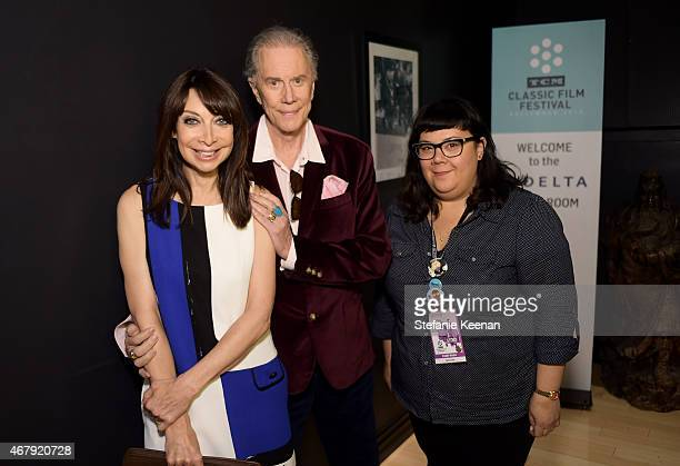 Actors Illeana Douglas Andrew Prine and Programmer for TCM Millie De Chirico attend the screening of 'The Miracle Worker' during day three of the...