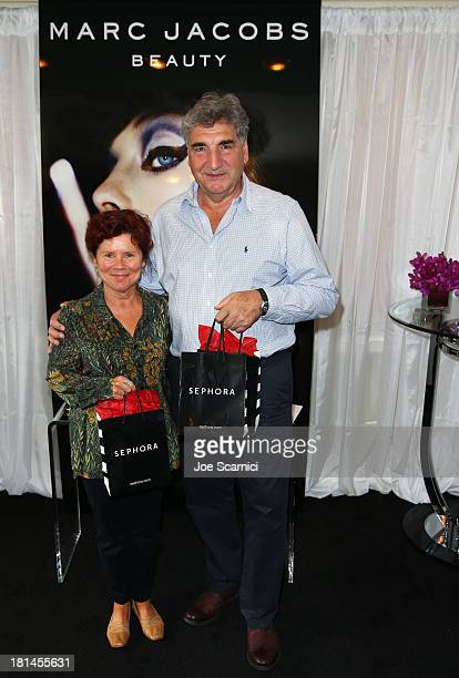 Actors Imelda Staunton and Jim Carter attend the HBO Luxury Lounge featuring Motorola and PANDORA Jewelry In Honor Of The 65th Primetime Emmy Awards...