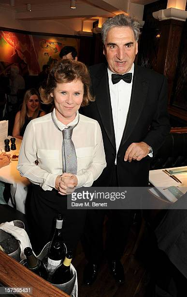 Actors Imelda Staunton and Jim Carter working as waitors attend One Night Only at The Ivy featuring 30 stage and screen actors working as staff...