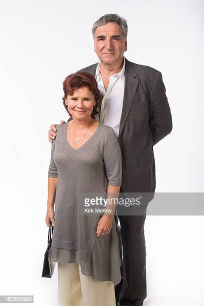 Actors Imelda Staunton Jim Carter are photographed for Los Angeles Times on September 20 2013 in Los Angeles California PUBLISHED IMAGE CREDIT MUST...