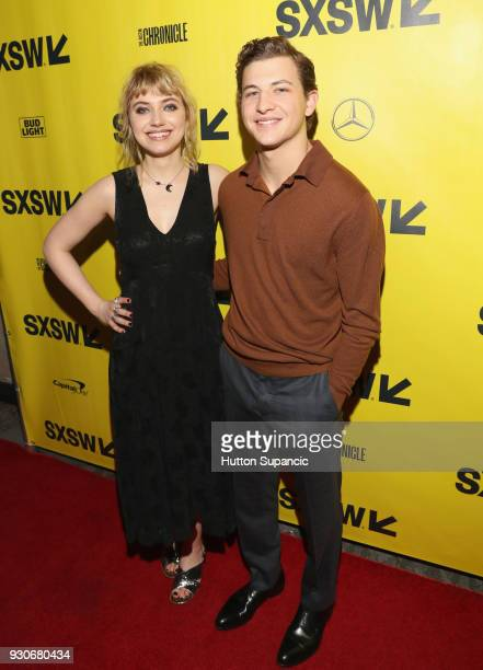 Actors Imogen Poots and Tye Sheridan attend the premiere of 'Friday's Child ' during SXSW at Vimeo on March 11 2018 in Austin Texas