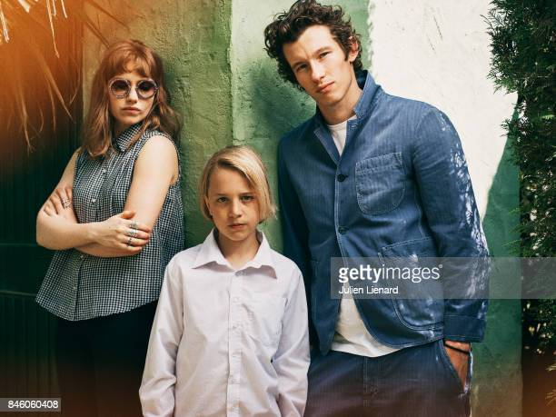 Actors Imogen Poots Callum Turner and Frank Oulton are photographed for Self Assignment on May 21 2017 in Cannes France