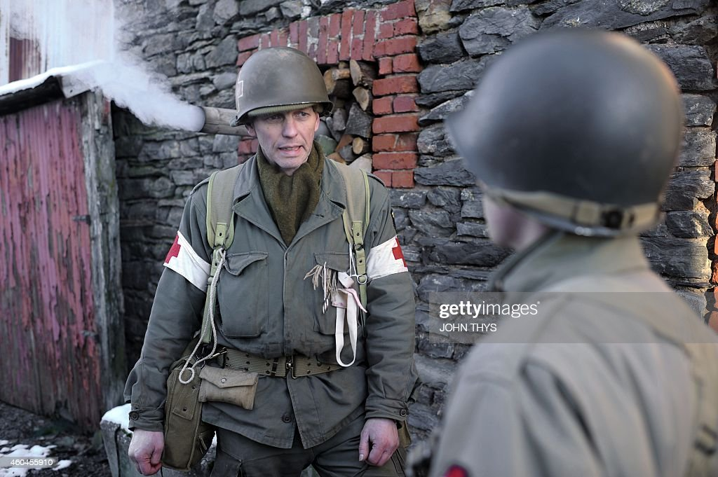 BELGIUM-ARDENNES-RECOGNE-BASTOGNE-WWII : News Photo