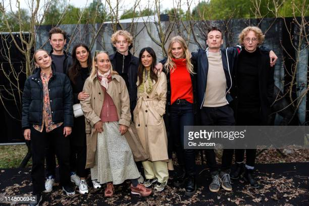 """Actors in """"The Rain"""" season 2 are posing at arrival after the bus ride to the """"secret"""" destination for the Netflix's The Rain season 2 premiere..."""