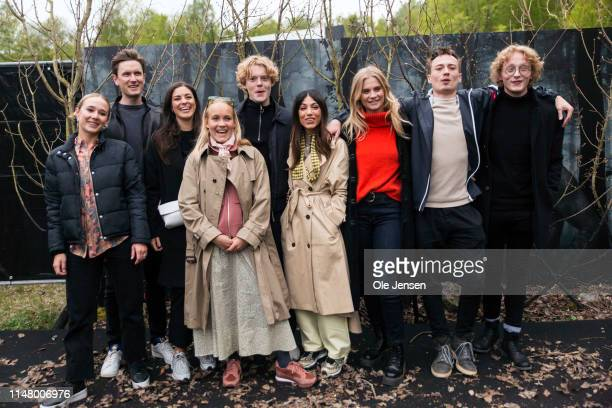 """Actors in """"The Rain"""" season 2 are posing together with guests at arrival after the bus ride to the """"secret"""" destination for the Netflix's The Rain..."""