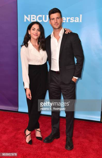Actors Inbar Lavi and Parker Young attends NBCUniversal's Summer Press Day 2018 at The Universal Studios Backlot on May 2 2018 in Universal City...