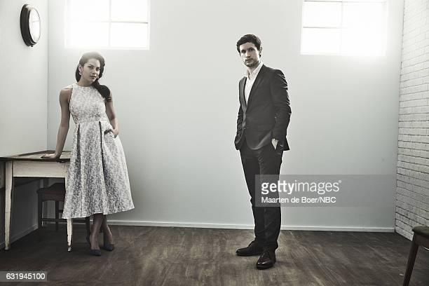 Actors Inbar Lavi and Rob Heaps of 'Imposters' pose for a portrait in the NBCUniversal Press Tour portrait studio at The Langham Huntington Pasadena...