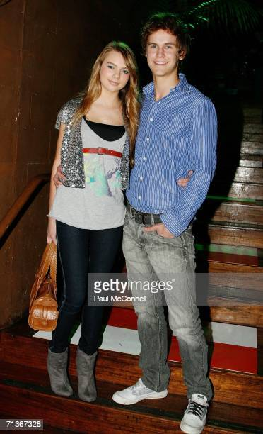 Actors Indiana Evans and Rhys Wakefield attend the Wish Fashion Show at the Victoria Room on July 4 2006 in Sydney Australia