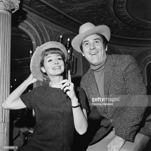 Actors Inga Swenson and Ivor Emmanuel , stars of the musical '110 In The Shade' at the Palace Theatre in London, UK, January 1967.