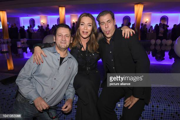 Actors Ingo Naujoks Aglaia Szyszkowitz and Sven Martinek at a meal celebrating the Christmas advent hosted by the German broadcaster ARD in Munich...