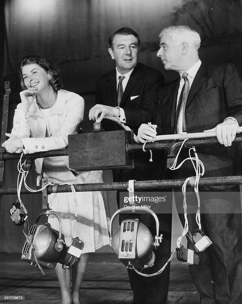 Ingrid Bergman, Michael Redgrave And Emlyn Williams : News Photo