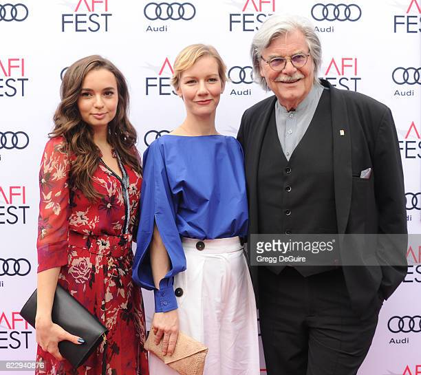 Actors Ingrid Bisu Sandra Huller and Peter Simonischek arrive at the AFI FEST 2016 Presented By Audi Screening Of Sony Pictures Classic's Toni...