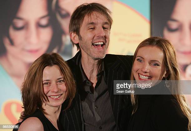 Actors Inka Friedrich Andreas Schmidt and Nadja Uhl arrive for the premiere of the new German comedy film Sommer vorm Balcon January 5 2006 in Berlin...