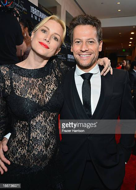 Actors Ioan Gruffud and Alice Evans arrive at the 2012 BAFTA Los Angeles Britannia Awards Presented By BBC AMERICA at The Beverly Hilton Hotel on...