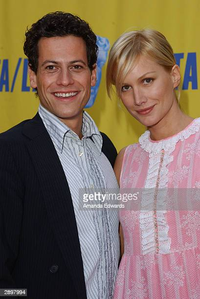 Actors Ioan Gruffudd and Alice Evans arrive at the 10th Annual BAFTA / LA Tea Party at The St Regis Hotel on January 24 2004 in Los Angeles California