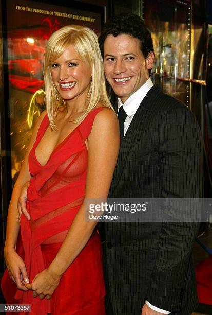 Actors Ioan Gruffudd and Alice Evans arrive at the European Premiere of 'King Arthur' at the Empire Leicester Square on July 15 2004 in London
